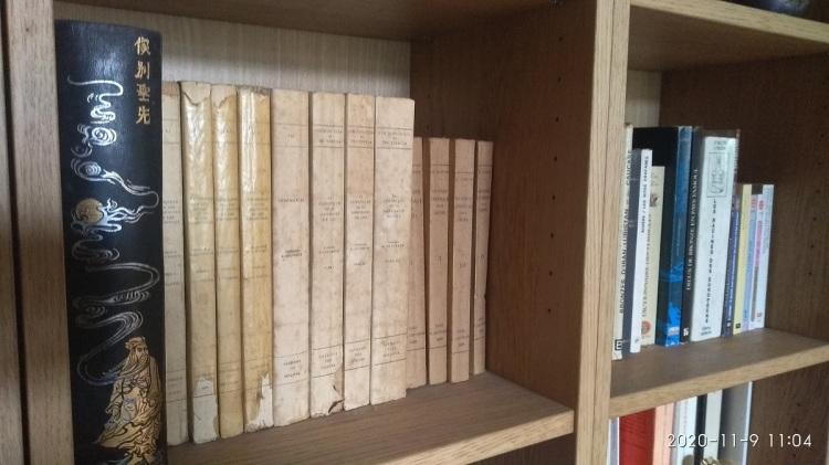 Une bibliothèque avec des livres sur une étagère.