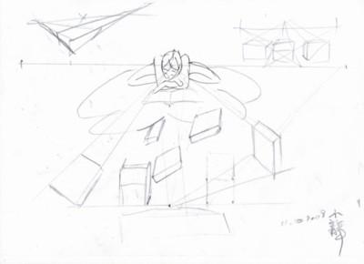 """Quatorzième et dernier dessin concernant le tableau """"La Lectrice"""" de LE Xiao Long."""