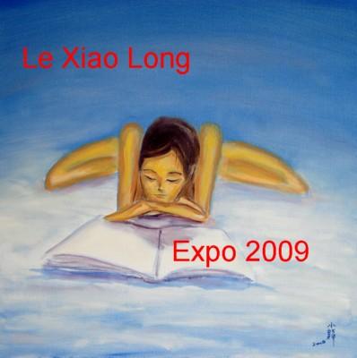 """""""La Lectrice"""" après la première séance de peinture par LE Xiao Long (Patrick Le Chevoir)."""